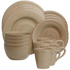 Sonoma Dinnerware in Tan - BedBathandBeyond.com