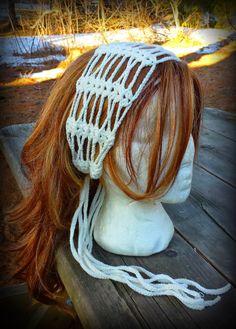365 Crochet: Shells and Lace Headscarf -free crochet pattern-