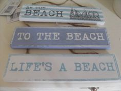 BLUE  WHITE WOODEN NAUTICAL BEACH SEASIDE CHIC N SHABBY WALL DOOR SIGN PLAQUE
