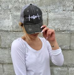 cc2cfae3055 Coffee Heartbeat Trucker Hat