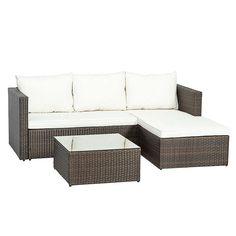 4 Sitzer Lounge Set Ange Aus Polyrattan Mit Polster Gartenideen