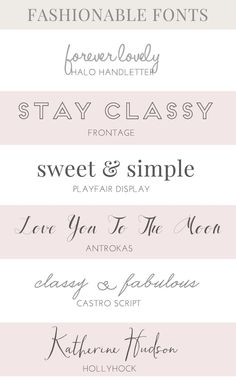 Favorite Fashion Fonts | angieamakes.com