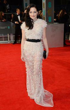 LARA PULVER at 2014 BAFTA Awards in London