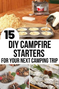 These DIY fire starters for camping (or anytime you need a fire)make it SUPER easy to start a fire - anytime! They're made with things you probably already have in the house. Take one of these DIY fire starters on your next camping trip! #camping #diy #campingtips Homemade Kids Gifts, Homemade Christmas Gifts, Diy Gifts, Rustic Christmas, Christmas Crafts, Christmas Decorations, Diy Fruit Fly Trap, Homemade Fire Starters, Tin Foil Meals