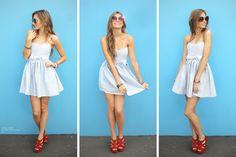 Model wears Bo Peep Party Dress