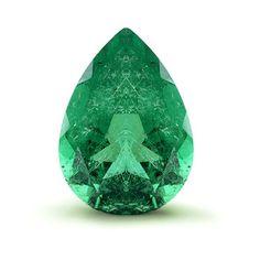 Pear Emerald Deep Green 2.91 cts 12 X 8.5 MM