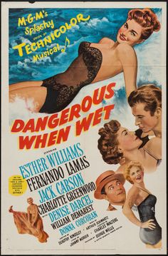 """Movie Posters:Comedy, Dangerous When Wet (MGM, 1953). One Sheet (27"""" X 41""""). Comedy.. ... Image #1"""