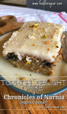 """Thanks to a recent Chronicles of Narnia themed school party (and signing up to bring a dessert), I was inspired to create this """"Turkish Delight Cake"""". Winter Dinner Recipes, Fall Recipes, Holiday Recipes, Recipes Dinner, Cocktail Recipes, Dessert Food, Dessert Recipes, Delicious Desserts, Winter Dishes"""