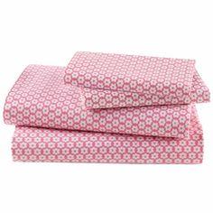 Girls Pink Flower Cotton Bedding Sheets