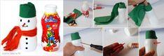 Návod na výrobu sněhuláka z plastové láhve