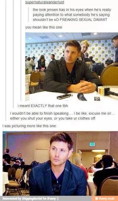 Jensen and his ridiculously attractive face