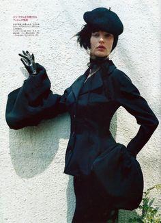 Silk jacket with detachable bell sleeves, Yohji Yamamoto