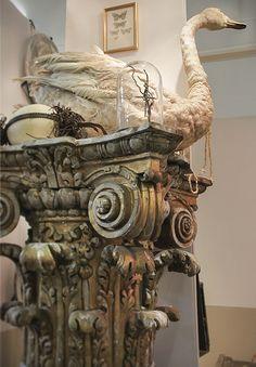 Corinthian column sculpture stand.  Love!  Josephine Ryan Antiques
