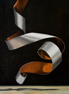 "Artist: LC Neill Title: ""Copper and Silver Twist I"" Medium: Oil on Canvas Dimensions: 40""x30"" I'm still fascinated by the many forms a flat piece of paper can be coaxed into. This silver and copper..."