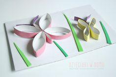 toilet paper roll butterfly craft motylki z rolek - praca plastyczna
