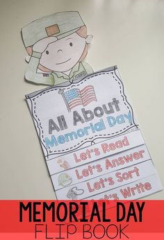 Memorial Day flip book- reading and comprehension activities interactive format