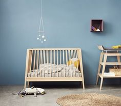Leander Linea Cot with Coco Mat