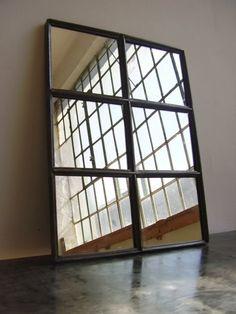 loft design ipari gy r ablak t k r industrial factory window mirror industrie fabrik fenster. Black Bedroom Furniture Sets. Home Design Ideas