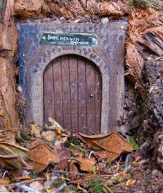 Tiny door in the Larmer Tree gardens