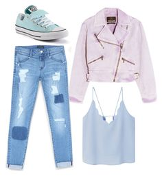 """Outfit"" by meloprea ❤ liked on Polyvore featuring Roberto Cavalli, Bebe, MANGO and Converse"
