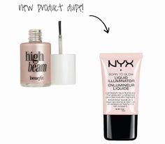 Benefit High Beam vs. NYX Liquid Illuminator ($26 VS $7!!)