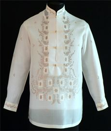 This new design brings new life to the classic Barong Tagalog look.Barongs R Us committed to offer qualitative and extensive range of original Barong suits, dresses, branded clothing, Barong Tagalog for men & Filipiniana dresses for women. Barong Wedding, Barong Tagalog, Groom Attire, Groom Suits, Groomsmen, Filipino Wedding, Filipiniana Dress, Philippines Fashion, First Communion Dresses