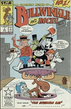 Bullwinkle and Rocky Marvel/Star Comics) comic books Old School Cartoons, Old Cartoons, Classic Cartoons, Children's Comics, Star Comics, Vintage Cartoon, Cartoon Tv, Cartoon Characters, Comic Books For Sale