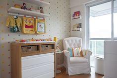 Foi em uma mostra de decoração que Daniela Ribeiro, já grávida de Giovana, atualmente com 2 meses, viu um quarto descolado de gêmeos, que inspirou o espaço