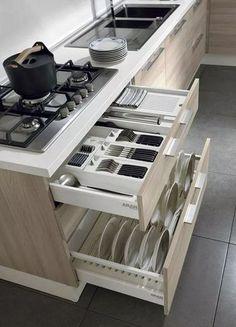 Luxury Kitchens 20 Modern Dish Storage Design Ideas For Luxury Kitchen Luxury Kitchen Design, Kitchen Room Design, Best Kitchen Designs, Kitchen Cabinet Design, Kitchen Sets, Luxury Kitchens, Home Decor Kitchen, Interior Design Kitchen, Diy Kitchen