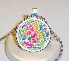 Famous Authors Necklace $5.00 - Personalized With Your Image $10.00 at www.pifs.etsy.com