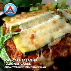 A low-carb lasagna dish