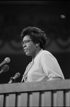 representative barbara jordan (tx.) -  in 1976 she became the first black woman to give the keynote address at the democratic national convention.
