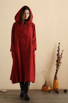 2015 HOT SALE Chinese style Windbreaker cloaks fashion dust trench coat casual Oversized Outwear with Wizard Hat
