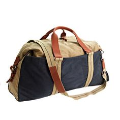"""The Abingdon collection is inspired by vintage hunting gear—each bag is made from rugged waxed cotton canvas with heavy-duty reinforced straps and fine leather accents. While we call this one the weekender (because it really is the perfect weekend bag), it's ideal for any quick trip that just requires a few changes of clothes. <ul><li>8"""" handle drop.</li><li>17 1/2""""H x 26""""W x 9 1/4""""D.</li><li>Adjustable shoulder strap fully extends to 49 3/4"""".</li><li>Waxed cotton canvas.</li><li>Burnished…"""