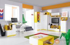 Nábytok do študentskej izby - zostava Poly 4   MT-nábytok.sk