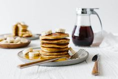 These paleo pancakes are a perennial breakfast winner. Made from a combination of coconut flour, tapioca flour and almond flour, they're light, fluffy and delicious. They're the best paleo pancakes and could easily be mistaken for traditional pancakes. Paleo Pumpkin Pancakes, Dairy Free Pancakes, Paleo Chicken Recipes, Paleo Recipes, Whole 30 Breakfast, Coconut Flour, Almond Flour, Teff Flour, Almond Milk