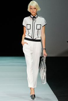 Emporio Armani Spring 2012 Ready-to-Wear Fashion Show: Complete Collection - Style.com