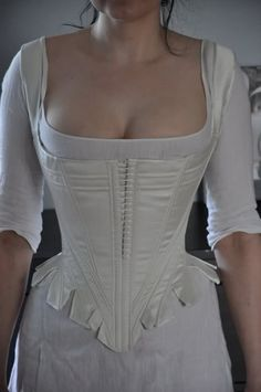 Before the Automobile: Reshaped 1780's stays. This pattern is similar to one in Corsets and Crinolines that I have cut and half-way boned.