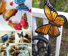 Plastic Bottle Butterflies