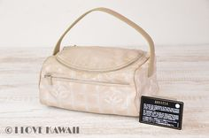 CHANEL Beige New Travel Line Vanity Cosmetic Bag A15829