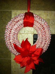 Mint Candy Wreath