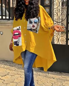 Tops – Page 3 – shyfull Latest African Fashion Dresses, African Print Fashion, Corsage, African Traditional Dresses, Plus Size Fashion Blog, Spring Outfits Women, Patch Design, Yellow Shirts, Cheap Blouses