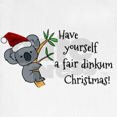 "Australian Christmas - Koala Santa Stocking   Great for anyone from Australia or for those who love the ""Down Under"""