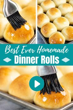 The Best Homemade Dinner Rolls Ever! Homemade Dinner Rolls, Dinner Rolls Recipe, Homemade Yeast Rolls, Homemade Breads, Desserts Keto, Dessert Recipes, Dinner Recipes, Keto Snacks, Dinner Ideas