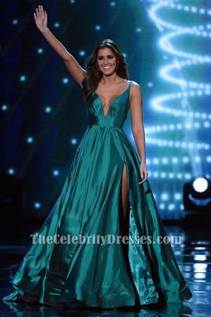 Miss Universe 2014 Paulina Vega Evening Gown 2015 Miss Universe Pageant Dress TCD6480