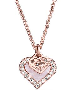 COACH MOTHER OF PEARL HEART NECKLACE - COACH - Handbags & Accessories - Macy's