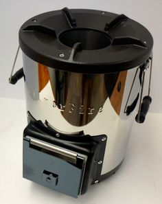 NEW Wood Burning Rocket Stove Outdoor Portable Camping Biomass Cooker Silverfire | eBay