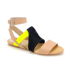 Fawn sporty flat sandal a la loeffler randall - digging the neon accents for the upcoming spring/summer season :)