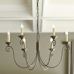 Cosette 6-Light Chandelier-have it in our dining room and love it.  Needs to be on a dimmer.