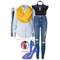A fashion look from August 2015 featuring Morris tops, Frame Denim jeans and Christian Louboutin pumps. Browse and shop related looks.